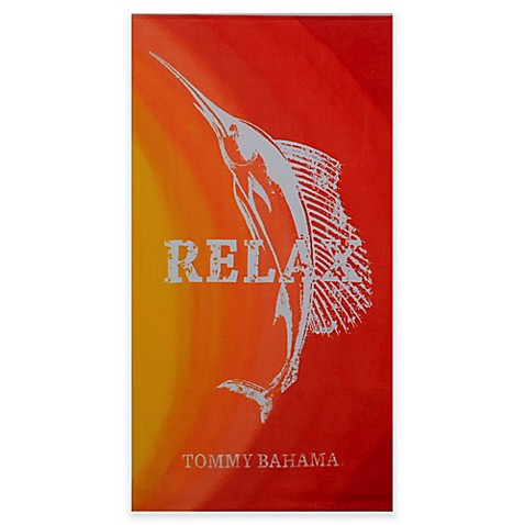 Tommy Bahama 174 Relax Marlin Beach Towel In Sunrise Bed
