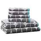 Intelligent Design Lita 6-Piece Cotton Jacquard Towel Set in Grey