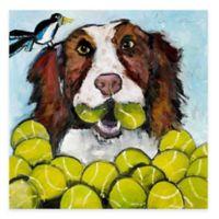 Marmont Hill Tara Likes Tennis 40-Inch x 40-Inch Canvas Wall Art