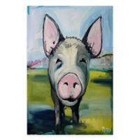 Marmont Hill Hog Heaven 12-Inch x 18-Inch Canvas Wall Art