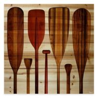 Parvez Taj Paddles 24-Inch x 24-Inch Pine Wood Wall Art
