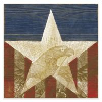 Marmont Hill Stars and Stripes 24-Inch x 24-Inch Canvas Wall Art