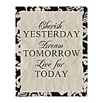 Yesterday Tomorrow Today 16-Inch x 20-Inch Canvas Wall Art