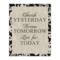 Yesterday Tomorrow Today 8-Inch x 10-Inch Canvas Wall Art
