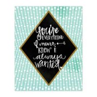 You're Everything Diamond 8-Inch x 10-Inch Canvas Wall Art