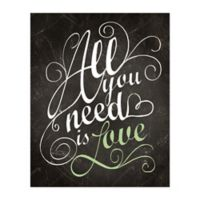 """""""All You Need Is Love"""" 16-Inch x 20-Inch Canvas Wall Art"""