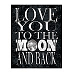 Love To The Moon 8-Inch x 10-Inch Canvas Wall Art