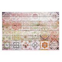 Parvez Taj Settat 2 36-Inch x 24-Inch White Wood Wall Art