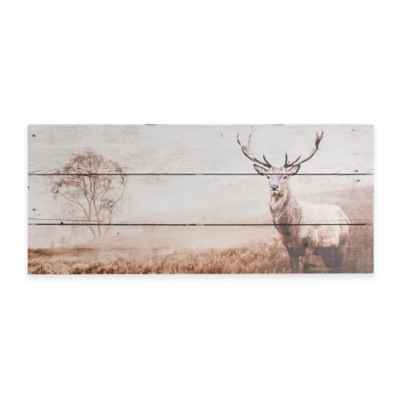 Graham & Brown Stag Wood Print Wall Art