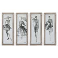 Uttermost Fashion Sketchbook Wall Art (Set of 4)