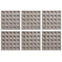 Uttermost Rogero Squares Wall Art in White/Gold (Set of 6)