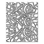 BY Jodi Fragmented Love Coloring Canvas Wall Art