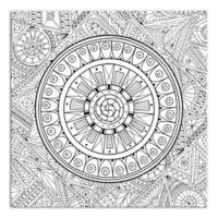 Zen Mandala Custom Coloring Canvas Wall Art