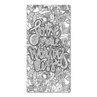 Love More, Worry Less Coloring Canvas Wall Art
