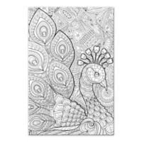 Peacock Prance Custom Coloring Canvas Wall Art