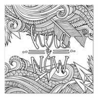 Here and Now Custom Coloring Canvas Wall Art
