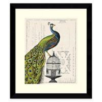 Sue Schlabach Peacock Birdcage I Framed Wall Art