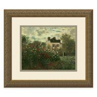 Monet The Artist's Garden at Argenteuil, 1873 Framed Wall Art