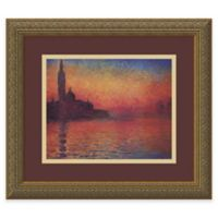 Claude Monet Dusk, Sunset in Venice, 1908 Framed Wall Art