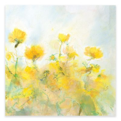 Yellow Flower Wall Art buy wall art yellow flowers from bed bath & beyond