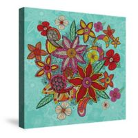 Laural Home® Boho Flowers Canvas Wall Art in Turquoise