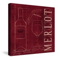 Laural Home® Wine Blueprint Merlot Canvas Wall Art