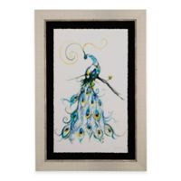 Bassett Mirror Company Aquarelle Peacock II Framed Wall Art