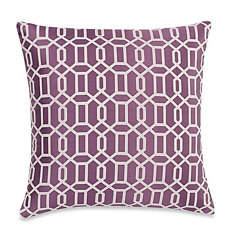 Make Your Own Decorative Pillow Covers : Make-Your-Own-Pillow Aaron Throw Pillow Cover in Purple - Bed Bath & Beyond