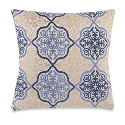 Decorative Pillow Makers : Make-Your-Own-Pillow Omnia Throw Pillow Cover in Blue/Gold - Bed Bath & Beyond