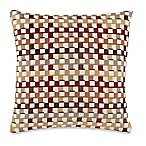 Make-Your-Own-Pillow Crisscross Throw Pillow Cover in Burgundy/Gold