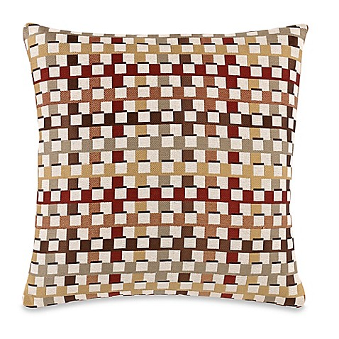 Burgundy Microfiber Throw Pillows : Make-Your-Own-Pillow Crisscross Throw Pillow Cover in Burgundy/Gold - Bed Bath & Beyond
