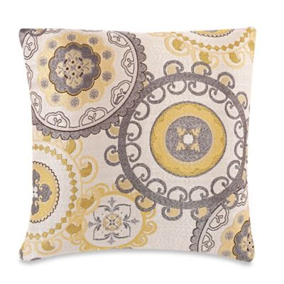 Decorative Pillow Makers : Make-Your-Own-Pillow Equinox Throw Pillow Cover in Yellow/Grey - Bed Bath & Beyond