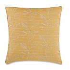 Make-Your-Own-Pillow Germaine Leaves Throw Pillow Cover in Yellow and Cream