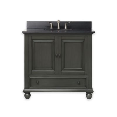 Avanity Thompson 37 Inch Single Vanity With Granite Top In Charcoal/Black