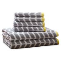 Intelligent Design Nadia 6-Piece Cotton Jacquard Towel Set in Grey