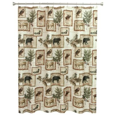 Genial Bacova Lodge Memories Shower Curtain