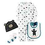 carter's® Size 3M 4-Piece Babysoft  Bear Hugs  Take Me Home Set