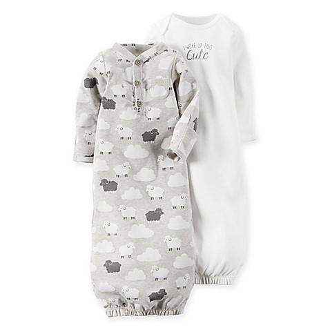 carter\'s® Newborn Lamb Babysoft 2-Pack Sleeper Gowns - buybuy BABY