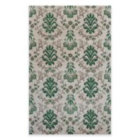 KAS Emerald Damask 8-Foot x 11-Foot Area Rug in Ivory/Green