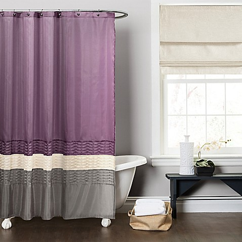 Buy Mia Shower Curtain In Purple Grey From Bed Bath Amp Beyond