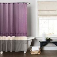 Mia Shower Curtain in Purple/Grey