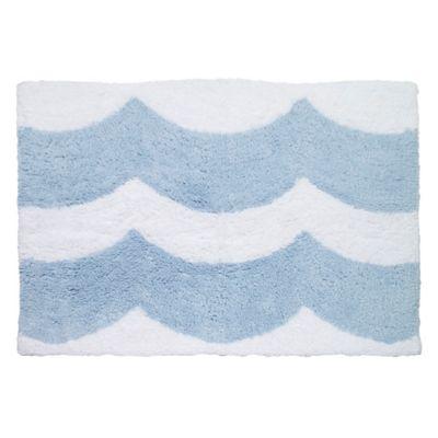 Avanti Wave 30-Inch x 20-Inch Bath Rug in Blue