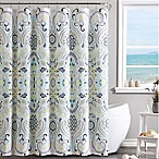 VCNY Amherst Shower Curtain in Yellow/Blue