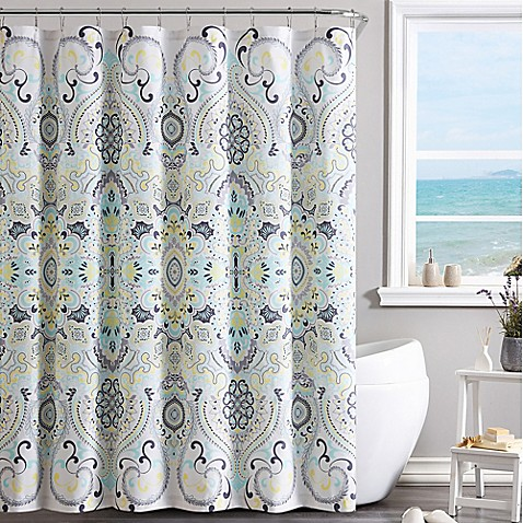 Vcny Amherst Shower Curtain In Yellow Blue Bed Bath Amp Beyond