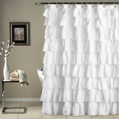 at polyester pd shop white shower com solid hookless curtain curtains lowes