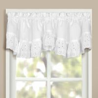 Vienna Double Crescent Window Curtain Valance in White