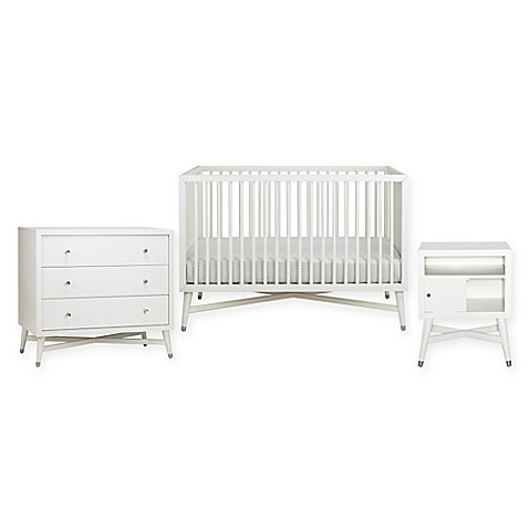 Exceptionnel DwellStudio Mid Century Nursery Furniture Collection In French White