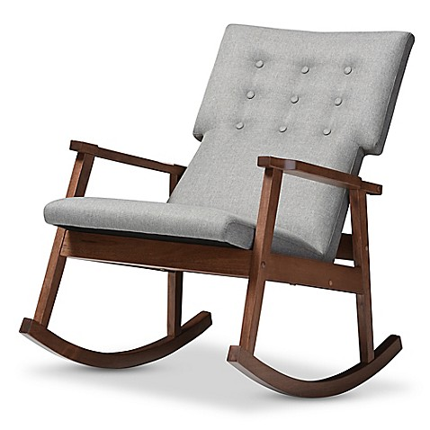 Baxton Studio Agatha Button Tufted Rocking Chair