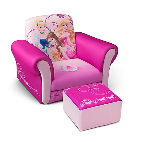 Delta Disney 174 Princess Children S Chair And Ottoman Set In