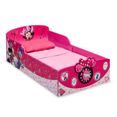 DeltaTM DisneyR Minnie Mouse Wooden Interactive Toddler Bed